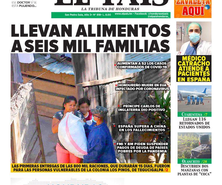 Llevan alimentos a seis mil familias
