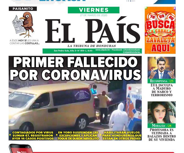 Primer fallecido por coronavirus