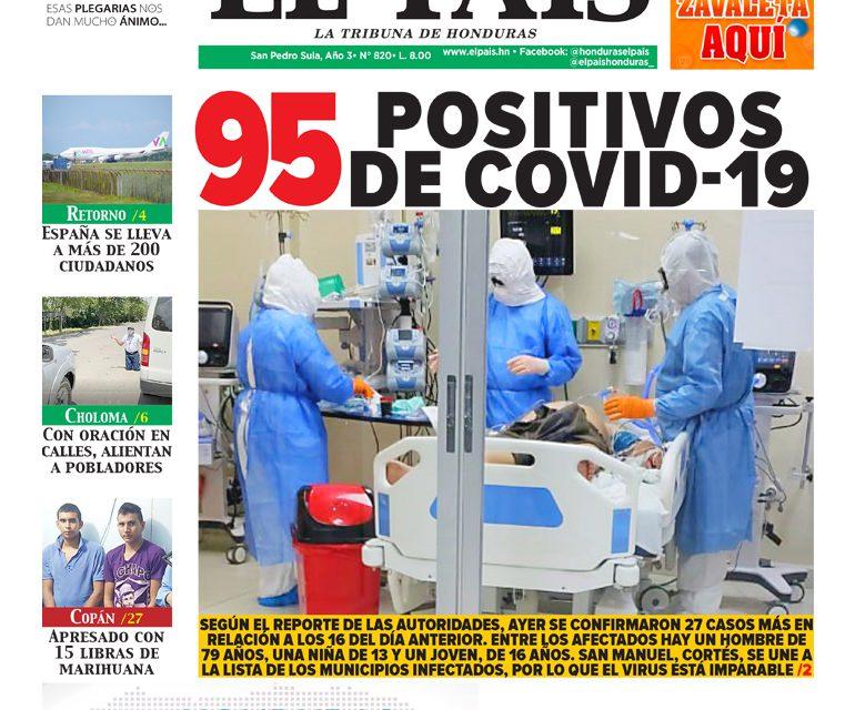 95 positivos de COVID-19