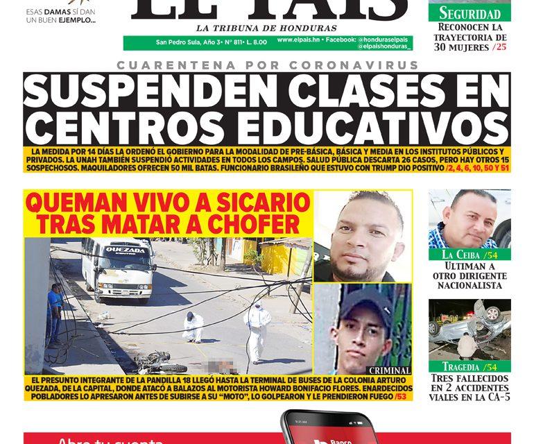 Suspenden clases en centros educativos