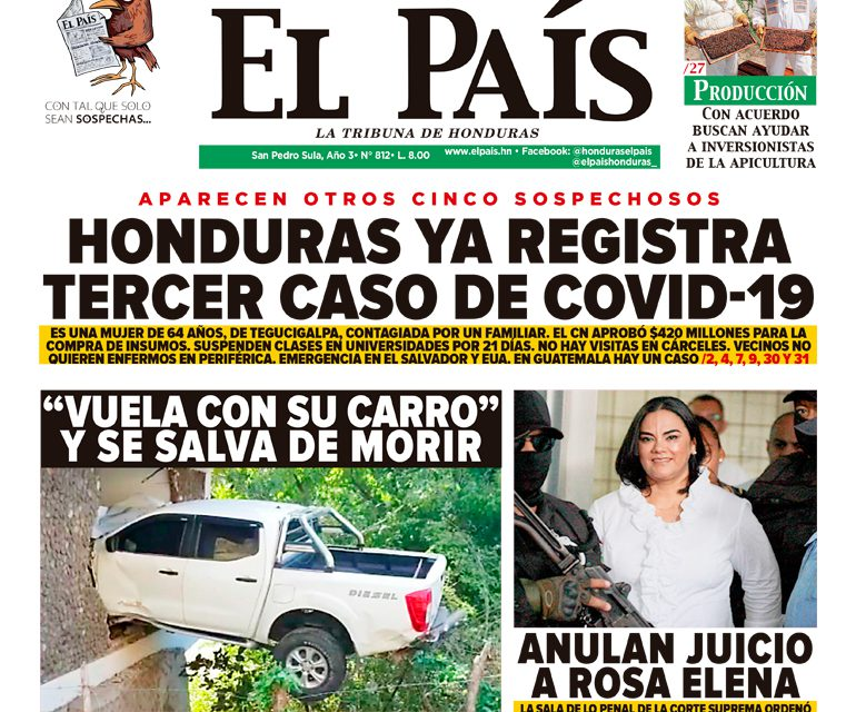 Honduras ya registra tercer caso de COVID-19