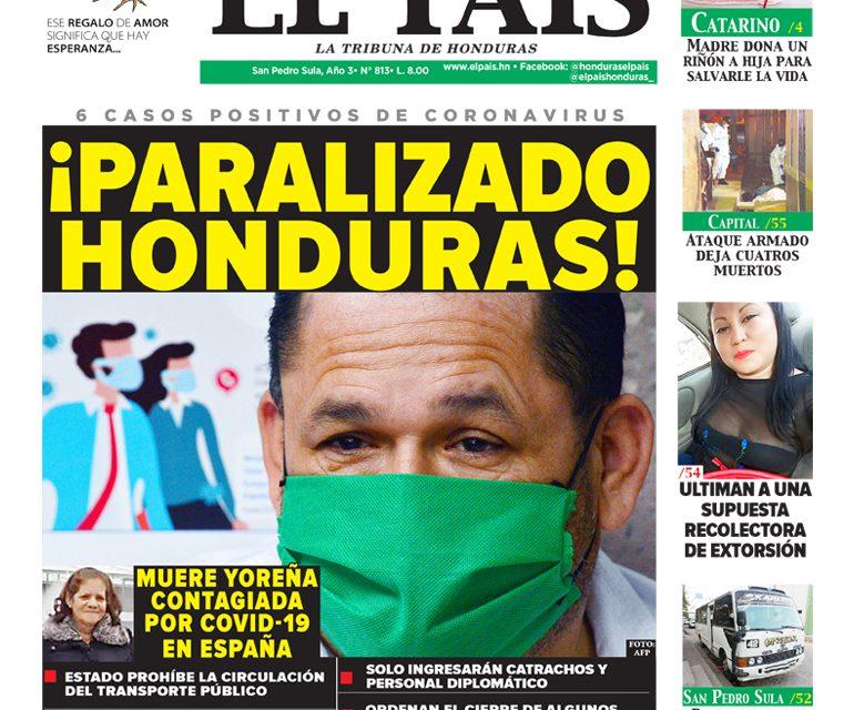 ¡Paralizado Honduras!