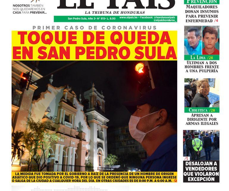 Toque de queda en San Pedro Sula