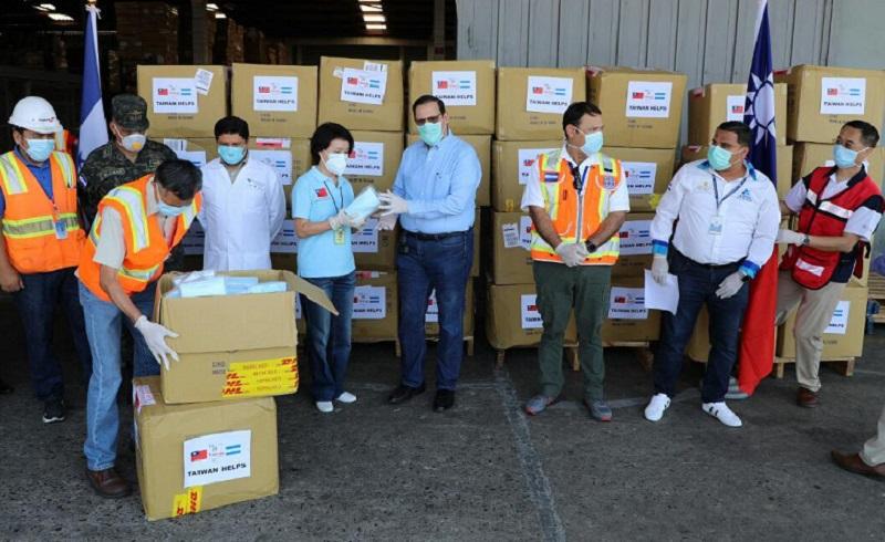 Una donación de 180,000 mascarillas recibe Honduras de parte de Taiwán