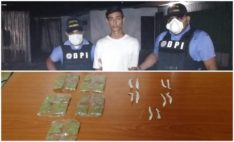 Con droga capturan a un presunto marero