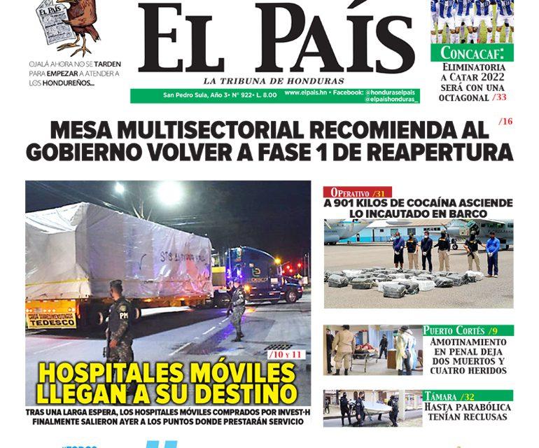 MESA MULTISECTORIAL RECOMIENDA AL GOBIERNO VOLVER A FASE 1 DE REAPERTURA