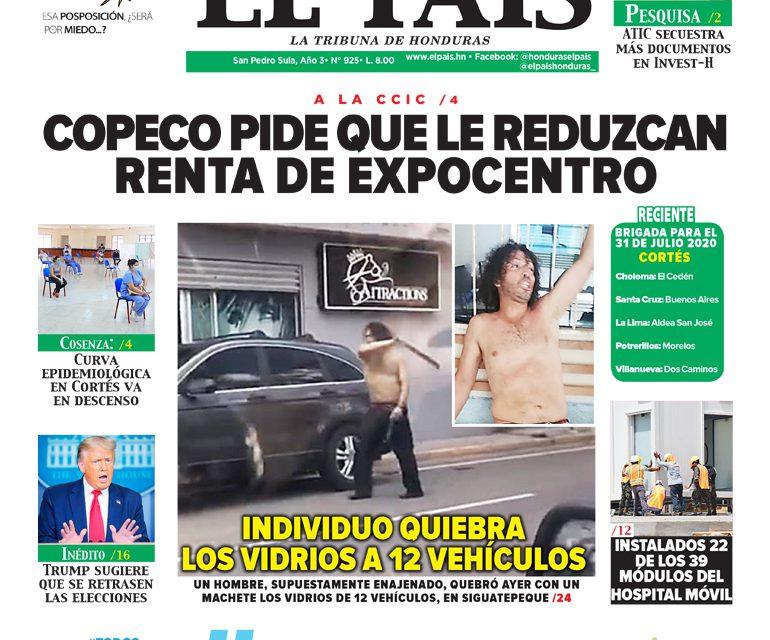 COPECO PIDE QUE LE REDUZCAN RENTA DE EXPOCENTRO