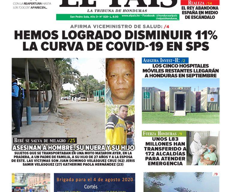 AFIRMA VICEMINISTRO DE SALUD: HEMOS LOGRADO DISMINUIR 11% LA CURVA DE COVID-19 EN SPS