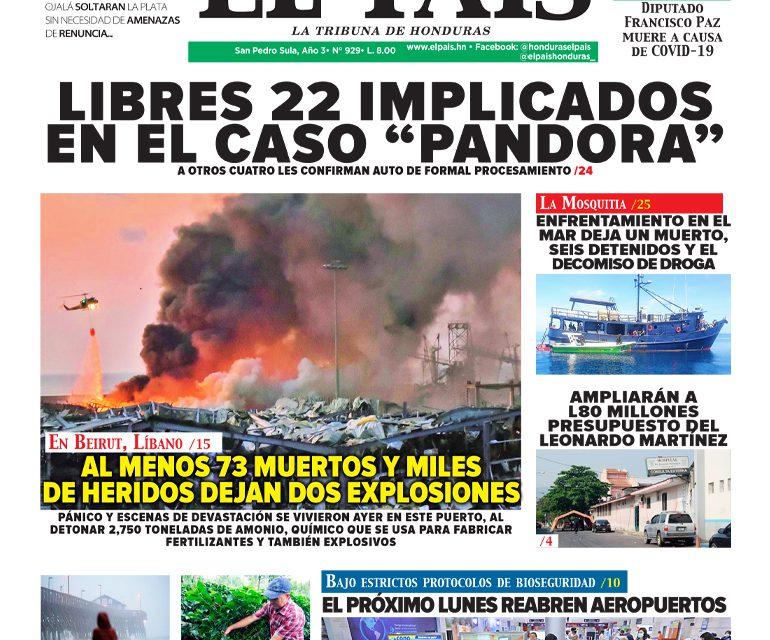 """LIBRES 22 IMPLICADOS EN EL CASO """"PANDORA"""""""