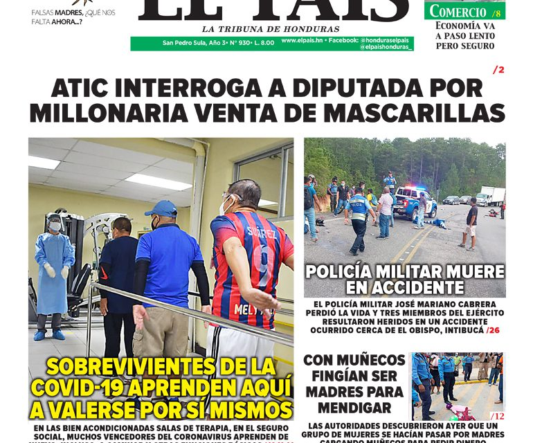 ATIC INTERROGA A DIPUTADA POR MILLONARIA VENTA DE MASCARILLAS